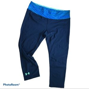 UNDER ARMOUR heat gear fitted cropped tights